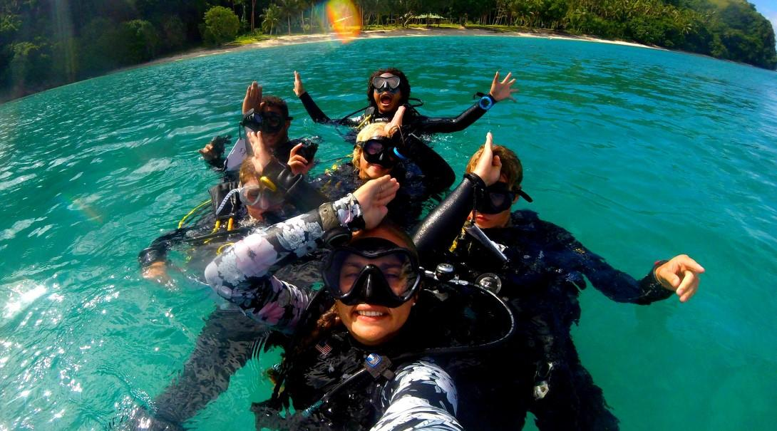 Diving on a gap year